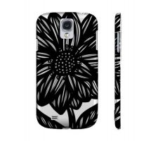 Buy Nibbe Black White Flowers Samsung Galaxy S4 Phone Case