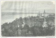Buy UKRAINA - SAINT-THEODOSIE CONVENT IN KIEV - engraving from 1872