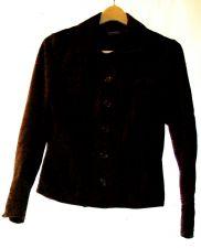 Buy EUC women's sz.10, Entier Classiques, brown, button down, suede leather jacket