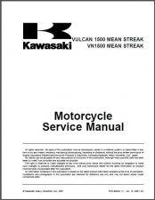 Buy Kawasaki Vulcan 1500 Mean Streak / VN1500 Mean Streak Repair Service Manual CD