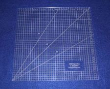 """Buy 10"""" Square Ruler. Acrylic 1/8"""" thick. Quilting/Sewing/Embroidery"""