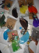 Buy Feather Earring lot 16 pairs really nice beads dangle drop earrings Spring Sale