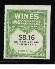 Buy US Internal Revenue $8.16 Wine Tax Stamp RE203 Series 1941 Mint NH