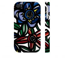 Buy Zieske Red Blue Green Iphone 4/4S Apple Phone Case Flowers Botanical