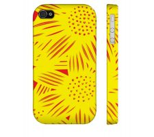 Buy Sanjabi Yellow Red Iphone 4/4S Apple Phone Case Flowers Botanical