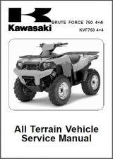 Buy 2008-2011 Kawasaki Brute Force 750 4X4i / KVF750 4X4 Service Repair Manual CD