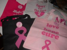 Buy Tote bags Cancer Awareness 4 lot new Pink Ribbon bags show support