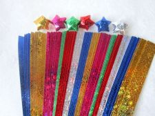 Buy 280 STRIPS ORIGAMI PAPER STAR FOLDING KIT LUCKY WISH STAR MULTI COLOR 7mm