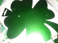 Buy St Patrick Day Shamrock wall window party decor shiny 9 inch cut outs 18 lot