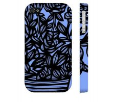 Buy Pacholec Blue Black Flowers Floral Botanical Iphone 4/4S Phone Case