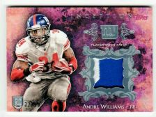 Buy NFL 2014 Topps Inception Andre Williams GIANTS 2 COLOR Patch /50 HIGH BOOK VALUE