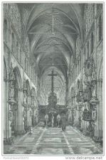 Buy BELGIUM - NOTRE-DAME CHURCH IN BRUGES - engraving from 1884