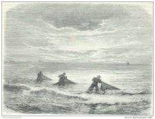 Buy CHINA (FORMOSA) - FISHING IN TA-KAO - engraving from 1875
