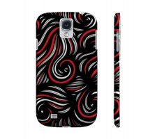 Buy Mcvoy Red White Black Samsung Galaxy S4 Phone Case
