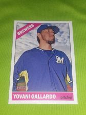 Buy MLB YOVANI GALLARADO BREWERS SUPERSTAR 2015 TOPPS HERITAGE #124 GEM MNT