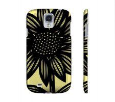 Buy Mogel Yellow Black Samsung Galaxy S4 Phone Case Flowers Botanical