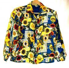 Buy EUC women's, sz.S, FUDA INT, Silk, multi-color, long sleeve, windbreaker, jacket