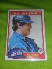 Buy VINTAGE CARLTON FISK RED SOX 1981 TOPPS #480 GD/VG