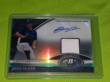 Buy MLB JAKE McGEE RAYS 2011 TOPPS PLATINUM AUTOGRAPHED JERSEY RELIC /1166 MNT