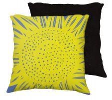 Buy Kersch 18x18 Yellow Blue Black Pillow Flowers Floral Botanical Cover Cushion Case Thr