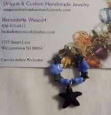 Buy star blue black and gray handmade ring can be made in any size