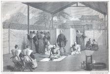Buy JAPAN - THE HARA-KIRI: HIGH CLASS PERSON CONDAMNED AT SUICIDE - engraving 1867