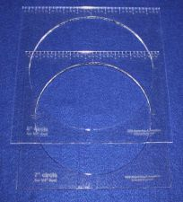 """Buy 2 Piece Inside Circle Set w/Rulers 7"""" & 8"""" ~1/4"""" Thick Long Arm For 1/4"""" Foot"""