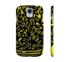 Buy Griswould Yellow Black Flowers Samsung Galaxy S4 Phone Case