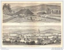 Buy BOSNIA - VIEW OF AGRAM & COMMUNION HOUSE - engraving from 1870