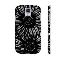 Buy Flammang Black White Flowers Samsung Galaxy S4 Phone Case