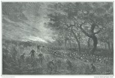 Buy FRENCH SUDAN (AFRICA) - FRENCH TROOPS IN SINTIOU-OUMAR-CIRE- engraving from 1889