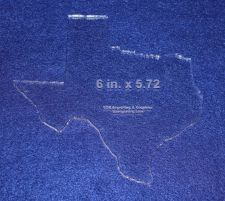 """Buy State of Texas 6"""" x 5.72"""" ~ 1/4"""" Quilt Template- Acrylic - Long Arm/Hand Sew"""