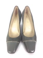 Buy Bruno Magli Shoes 6.5 Womens Gray Leather Heels