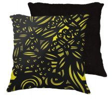 Buy 22x22 Olinghouse Yellow Black Pillow Flowers Floral Botanical Cover Cushion Case Thro