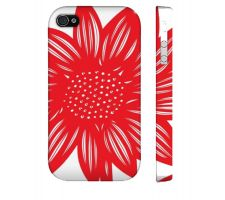 Buy Muhammad Red White Iphone 4/4S Apple Phone Case Flowers Botanical