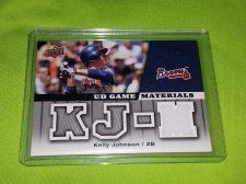 Buy MLB KELLY JOHNSON BRAVES 2009 UD 4 PC GAME WORN JERSEY MNT