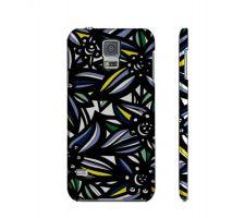 Buy Desmaris Yellow Blue Flowers Samsung Galaxy S5 Phone Case