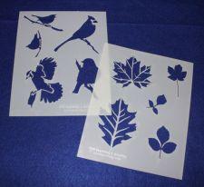 Buy 2 Piece Set -Mylar 14 Mil Nature Stencils Painting/Crafts/Stencil/Template