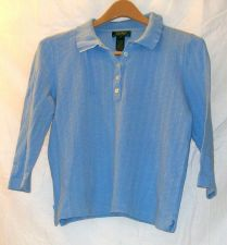 Buy EUC women's, Sz. S, Lauren, light blue, 3/4 length, sleeve, pull-over sweater