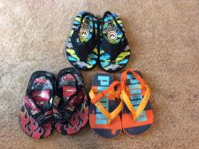 Buy 3 pair lot of Toddler Boys Flip Flop Sandals Size 5/6 Disney Cars, Puma