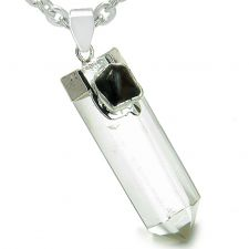 Buy Amulet Yin Yang Balance Powers White Quartz Black Agate Gemstones Lucky Charm