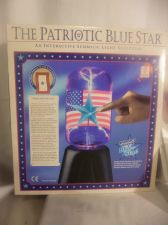 Buy Patriotic Blue Star Interactive Plasma Ball Light Sculpture