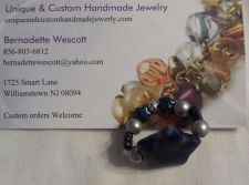 Buy star sodalite natural and glass handmade ring can be made in any size