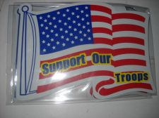 Buy Support our troops car magnet ribbons magnet 7 inch USA flag strong