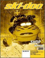 Buy 2000 Ski-Doo Grand Touring Formula III Mach 1 Z R Service Repair Shop Manual CD