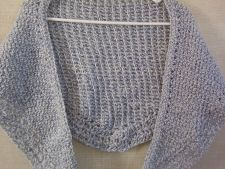 Buy Hand Crocheted Lacy Bernat Denim Ragg Capelet Scarf, Shawl, Shoulder Warmer