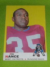 Buy VINTAGE JIM NANCE PATRIOTS1969 TOPPS #70 HIGH BOOK VALUE