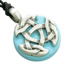 Buy Amulet Lucky Horse Shoe Unicorn Magic Red Circle Base Pendant Necklace