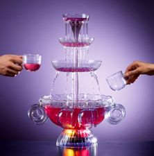 Buy NEW Nostalgia Electrics Fountain Beverage Punch Set Lighted Party Drinks