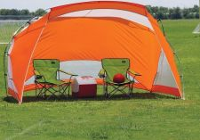 Buy NEW Texsport Beach Shelter Weather Shield UPF 50+ Orange